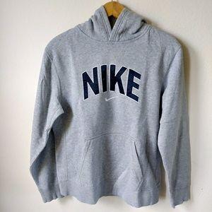 Nike gray logo pullover hoodie